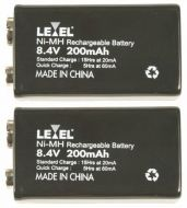 2 x 9v NiMH Batteries
