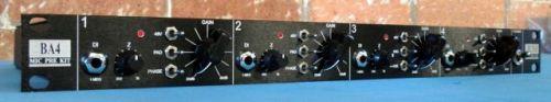 BA4 4 Channel Mic Pre Complete Rack Kit