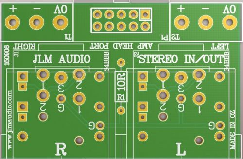 XLR / TRS STEREO IO PCB