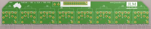 TASCAM / IDC to XLR / TRS IN & OUT PCB