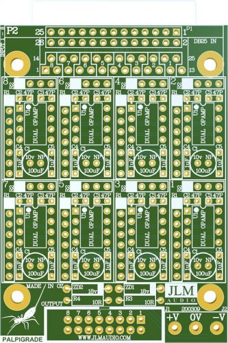 Palpigrade 8 Channel Bal in to unbal out PCB